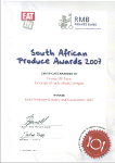 South African Produce Award